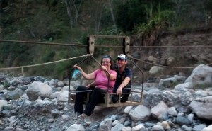 crossing the river on a cart
