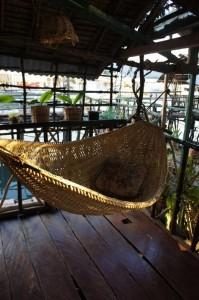 Our wicker hammock