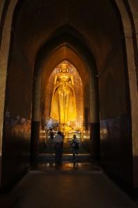 Some stupas had huge buddha inside.